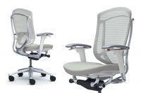 Contessa Seconda White Body Light Grey Cushion Seat Chair