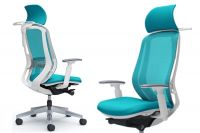 OKAMURA SYLPHY White body Blue Green Chair with Headrest