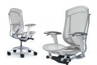 Židle CONTESSA 2 Plast bílý Sedak Světle šedá Síťovina