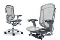 Židle CONTESSA 2 Plast šedý Sedak Světle šedá Síťovina