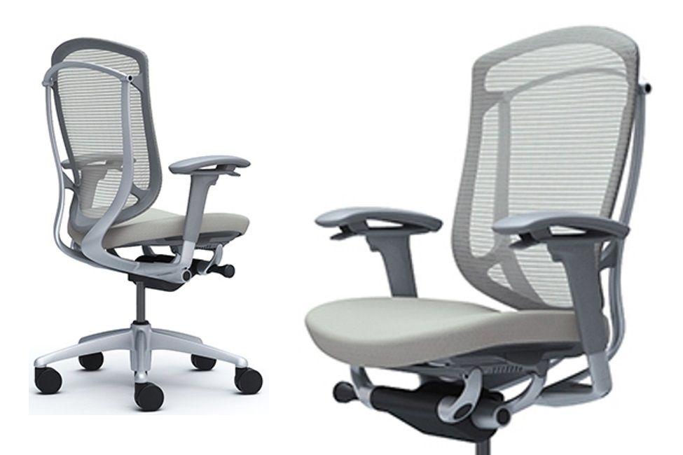 OKAMURA CONTESSA Seconda Grey shell Chair Light grey Cushion Seat