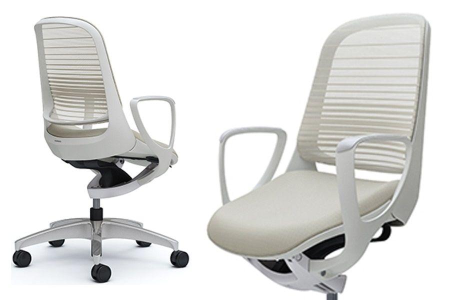 OKAMURA LUCE White body White Gradated Mesh Chair