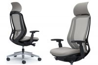 OKAMURA SYLPHY Light Grey Chair with Headrest