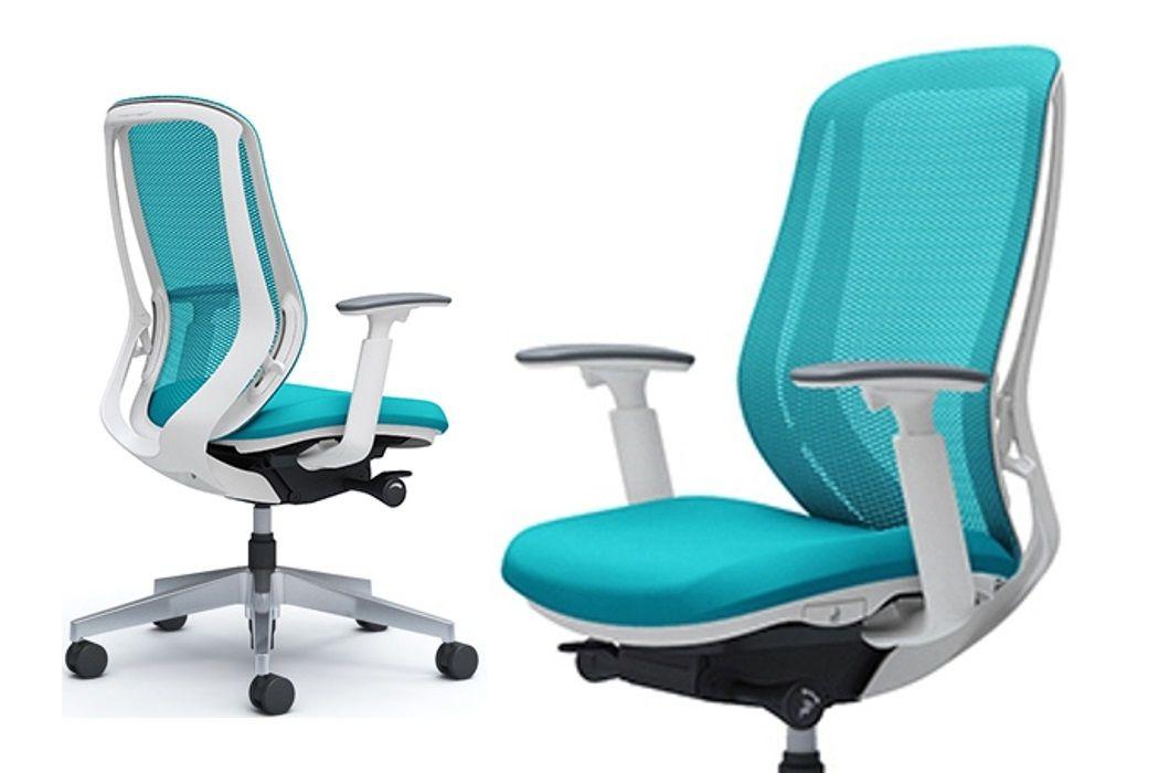 OKAMURA SYLPHY White body Blue Green Chair