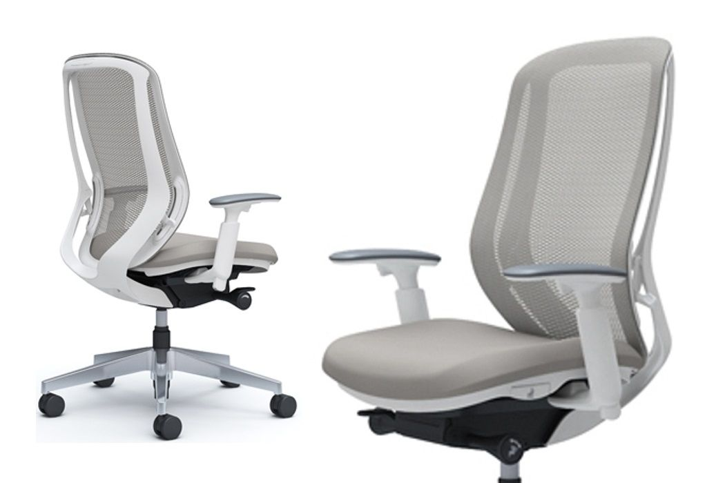 OKAMURA SYLPHY White body Light Grey colour Chair