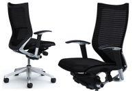 Кресло OKAMURA CP Полированное Сетка Black