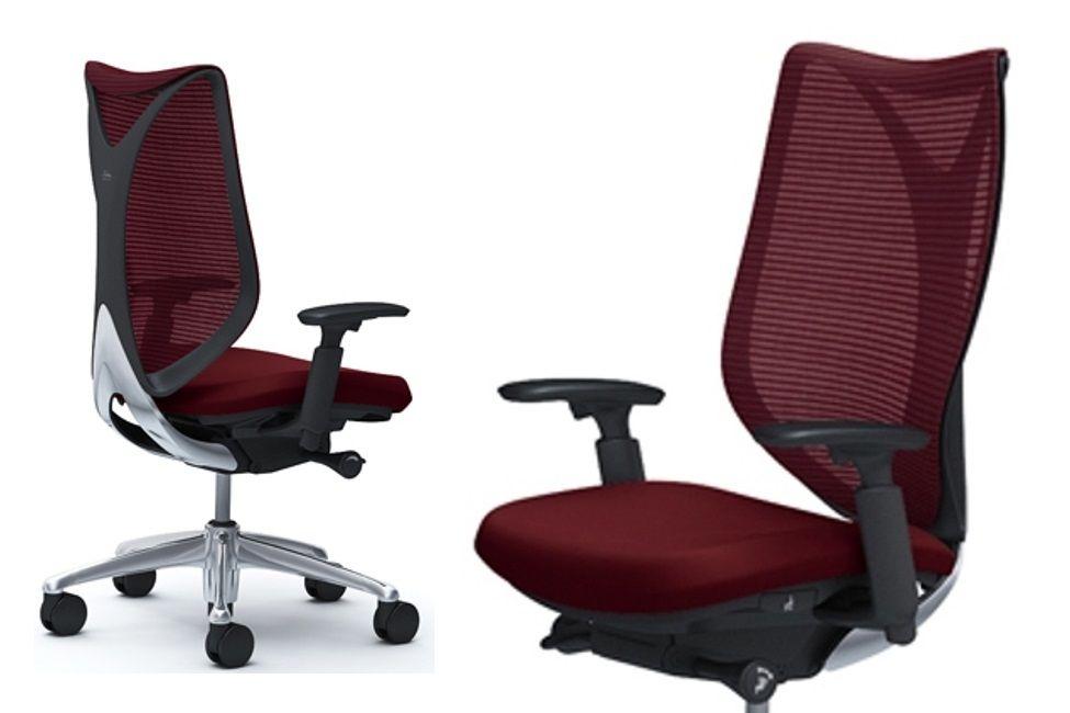 Židle OKAMURA SABRINA Standard Černý plast Dark Brown