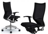 OKAMURA CP Silver frame Black mesh Chair